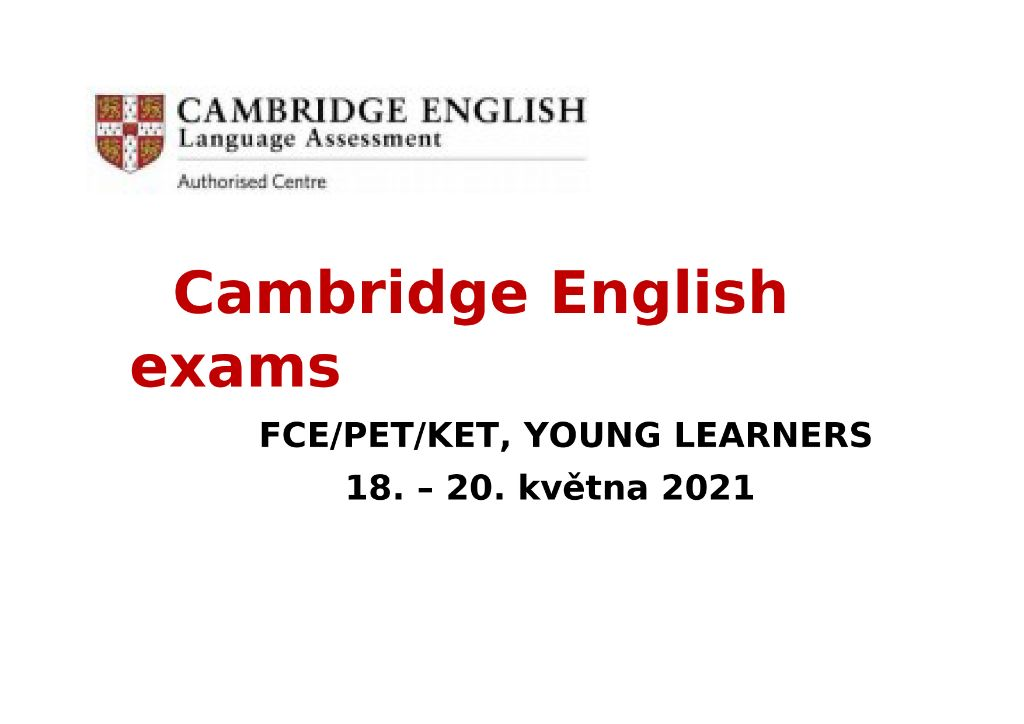 Cambridge English exams Plakát